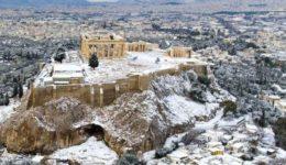 Αθήνα χιονισμένη