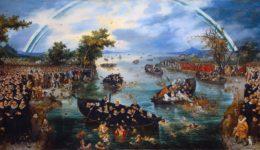 Αλιείς ανθρώπων. Άντριεν βαν ντε Βεν (1614). (πάλη για προσηλυτισμό μεταξύ Καθολικών και Προτεσταντών)