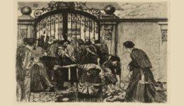 Η εξέγερση των υφαντουργών της Σιλεσίας, Ιούνης 1844 (χαλκογραφία της Κάτε Κόλβιτς, 1879) - Αντιγραφή