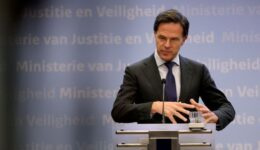 FILE PHOTO: Dutch Prime Minister Mark Rutte holds a news conference in the Hague