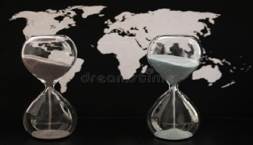 δύο-sandglasses-παγκόσμιος-πολιτικός-χάρτης-χρονική-διάβαση-116027821