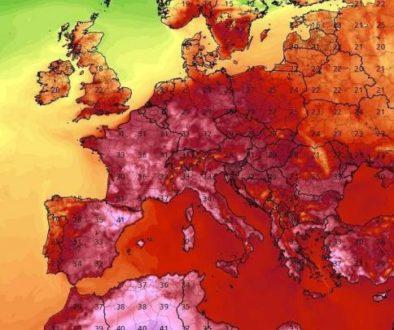 καυσωνας Ευρώπη