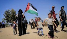 παλαιστίνιοι διαδηλώνουν