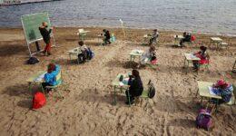 σχολείο στην παραλία