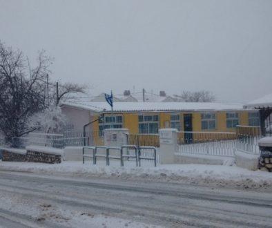 χιόνια σχολείο