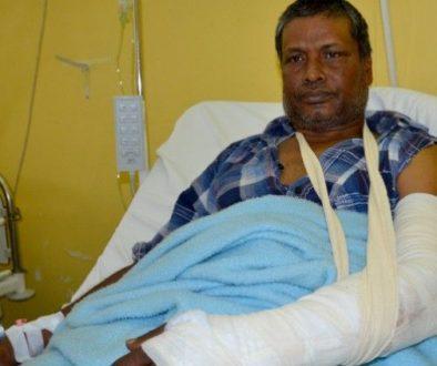 μετανάστης τραυματισμένος
