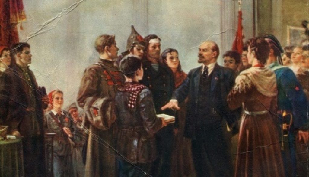 Λένιν Κομσομόλ Vasiliy-Hitrikov-1922-1987.-Lenin-at-III-congress-of-Komsomol-.-Ukrainian-Republican-art-exhibition-dedicated-to-the-40th-anniversary-of-the-Komsomol