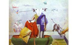 Μαξ Ερνστ, Πουλιά, ψάρια και φίδι-σκιάχτρο, 1921.