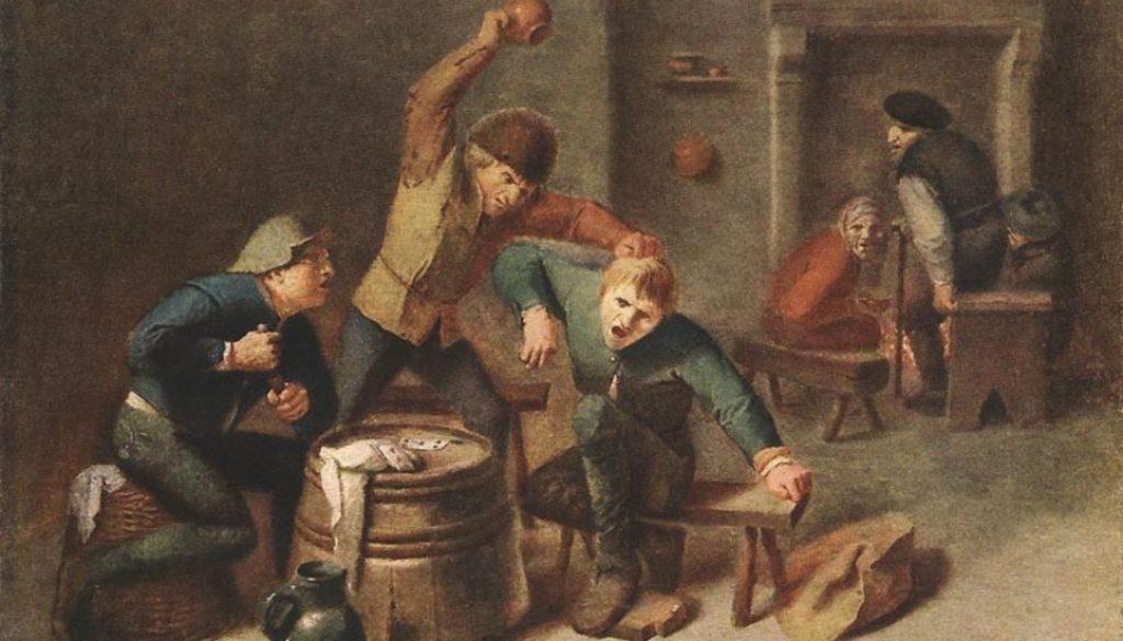 καβγάς- Brouwer Brawling Peasants-a4b868526ec56401e4a3c9441d60bd62