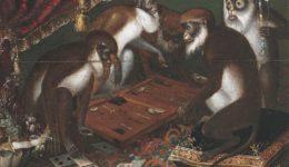 πίθηκοι παίζουν τάβλι (2)