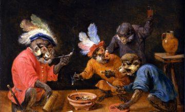 πίθηκοι σε ταβέρνα-David Teniers