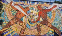 σοβιετική τοιχογραφία soviet