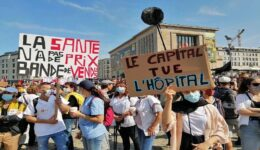 Belgium-Healthworkers-protest