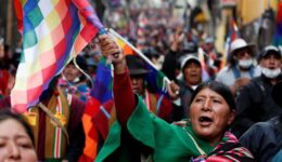 Bolivia-indigenous-protester