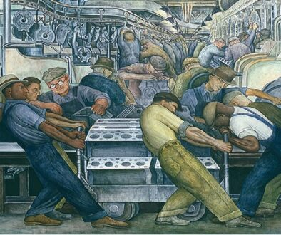 Diego Rivera Detroit Industry, North Wall Detail, Furnace, 1932-1933-1α