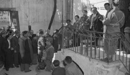 Allied Military Officials and Greek Voters at Polls