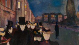 Munch Edvard-Βράδυ στην οδό Καρλ Γιόχαν