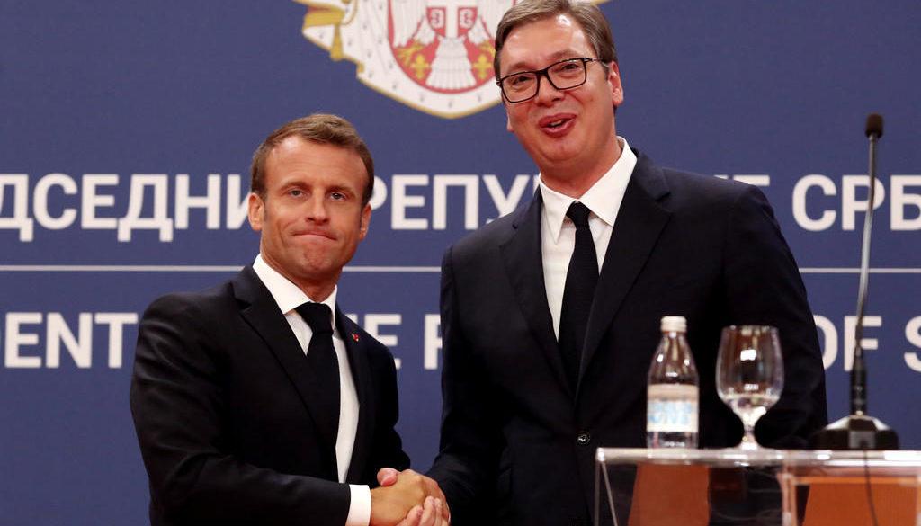 French President Macron visits Serbia
