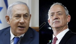 polls  predicting tite scores between Netanyahu and Gantz