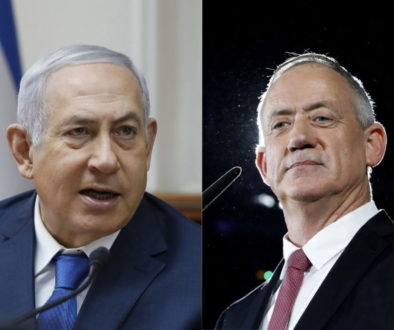 polls  predicting tite scores between Netanyahu and Gantz