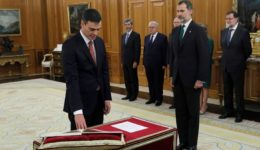 Prime Minister Pedro Sanchez swearing-in ceremony