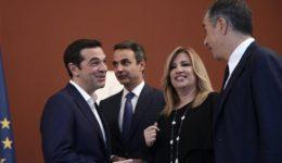 tsipras-mitsotakis-gennimata-theodorakis